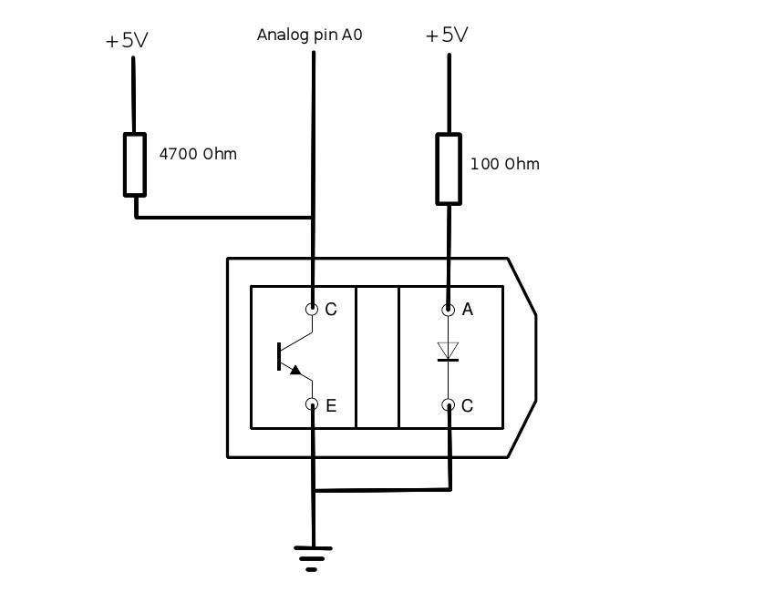 Analogread from a TCRT5000 sensor