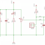 Photocell sensor, except a pull-up resistor, no any extra parts needed for the sensor